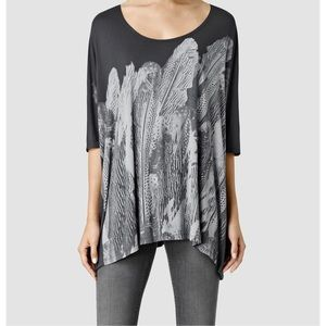 "Allsaints oversized wide t-shirt ""zebu dream"" M"